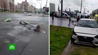 В Петербурге лихач на Hyundai влетел в пешеходов