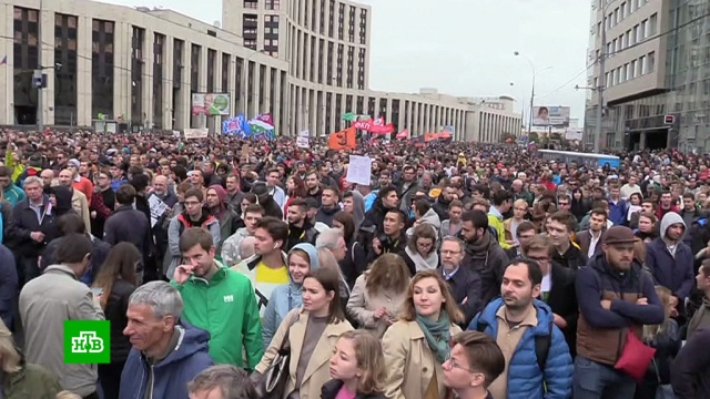 Полиция насчитала 20тысяч человек на митинге вМоскве.Москва, митинги и протесты, оппозиция.НТВ.Ru: новости, видео, программы телеканала НТВ