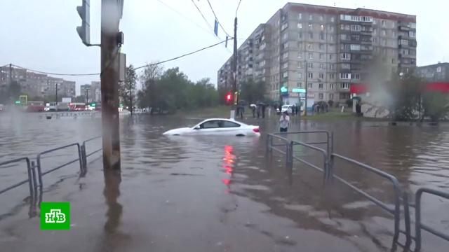 Магнитогорск ушел под воду после сильного ливня.Магнитогорск, стихийные бедствия.НТВ.Ru: новости, видео, программы телеканала НТВ