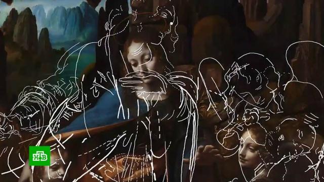 Под картиной «Мадонна на скалах» да Винчи нашли спрятанные рисунки.живопись и художники, Лондон.НТВ.Ru: новости, видео, программы телеканала НТВ