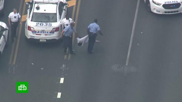 При стрельбе в Филадельфии пострадали шестеро полицейских.США, стрельба.НТВ.Ru: новости, видео, программы телеканала НТВ