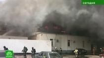 Из уничтоженных огнем складов на юге Петербурга вовремя вынесли баллоны с газом