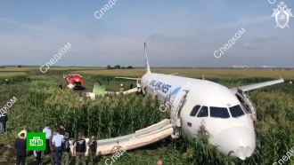 Специалисты Airbus осмотрели А321в Подмосковье