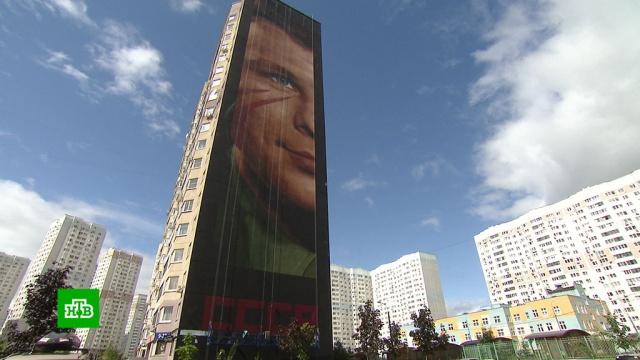 В Подмосковье появился самый большой портрет Гагарина.Гагарин, Московская область, живопись и художники, космонавтика.НТВ.Ru: новости, видео, программы телеканала НТВ