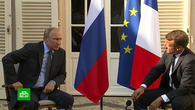 «Нужно различать ситуацию»: Макрон согласен сПутиным по вопросу митингов вМоскве.Макрон, Москва, Путин, митинги и протесты, расследование.НТВ.Ru: новости, видео, программы телеканала НТВ