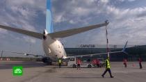 Вновом аэропорту Саратова приземлился первый регулярный рейс