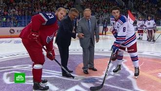 Путин поддержал юных российских хоккеистов вСочи