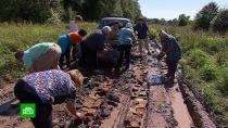 Жители владимирской деревни из-за бездорожья остались без медицинской помощи