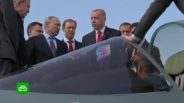 Самолеты, космос и мороженое: что Путин показал Эрдогану на МАКС-2019.Путин, Турция, Эрдоган, авиасалоны и авиашоу, авиация.НТВ.Ru: новости, видео, программы телеканала НТВ
