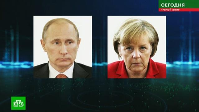 Путин и Меркель обсудили подготовку к саммиту «нормандской четверки».Ливия, Меркель, Путин, Сирия, Украина, переговоры.НТВ.Ru: новости, видео, программы телеканала НТВ