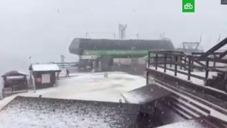 На курорте вСочи выпал первый снег