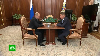 Путин обсудил сМиллером поставки газа вКитай ина Украину