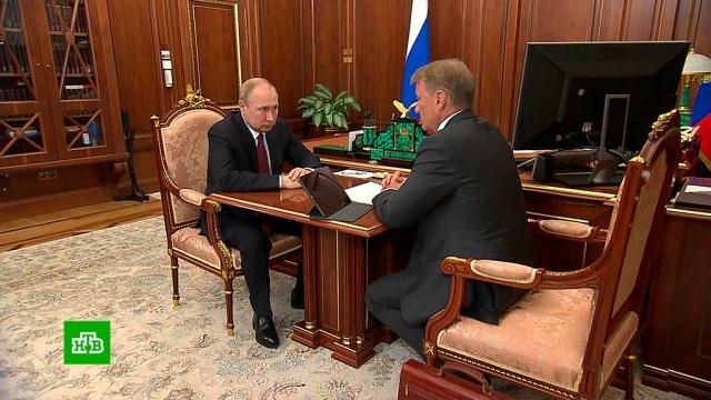 Путин попросил Грефа адаптировать наработки «Сбербанка» к масштабным задачам.Греф, Путин, Сбербанк, технологии.НТВ.Ru: новости, видео, программы телеканала НТВ