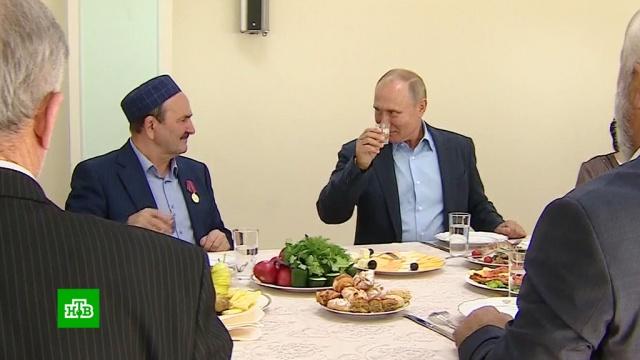 «Пример всей стране»: Путин вспомнил сдагестанскими ополченцами события 1999года.Дагестан, Путин, войны и вооруженные конфликты, памятные даты, терроризм.НТВ.Ru: новости, видео, программы телеканала НТВ