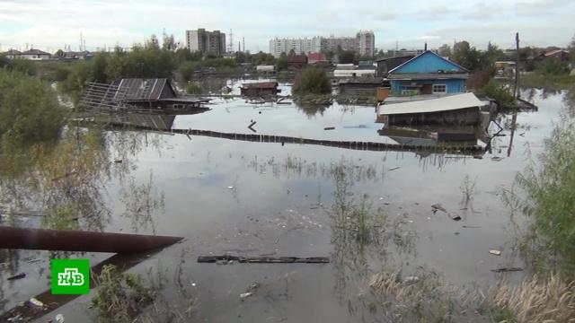 В Комсомольске-на-Амуре растет число подтопленных домов.Хабаровский край, наводнения.НТВ.Ru: новости, видео, программы телеканала НТВ