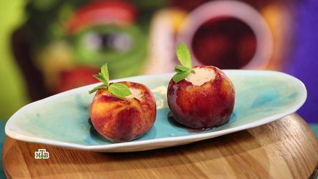 Персиковый десерт сначинкой из йогурта.кулинария.НТВ.Ru: новости, видео, программы телеканала НТВ