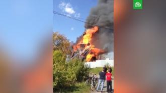 Православный храм сгорел под Екатеринбургом