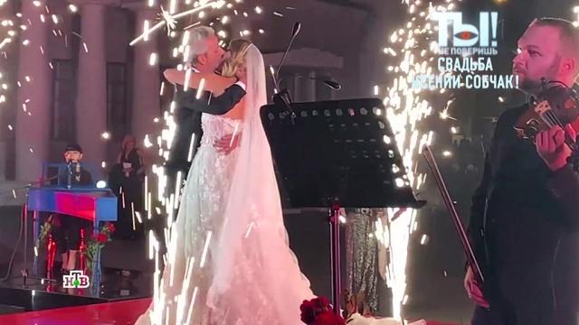 «Горько!»: поцелуй Собчак иБогомолова на свадебном банкете.Собчак Ксения, браки и разводы, знаменитости, шоу-бизнес, эксклюзив.НТВ.Ru: новости, видео, программы телеканала НТВ