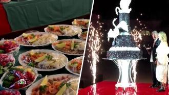 Собчак удивила гостей свадебным банкетом исписком подарков