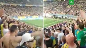 На Украине сняли на видео «зигующий» стадион