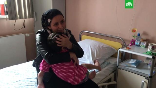 Избитая девочка из Ингушетии встретилась смамой.Ингушетия, дети и подростки, драки и избиения, жестокость, издевательства.НТВ.Ru: новости, видео, программы телеканала НТВ