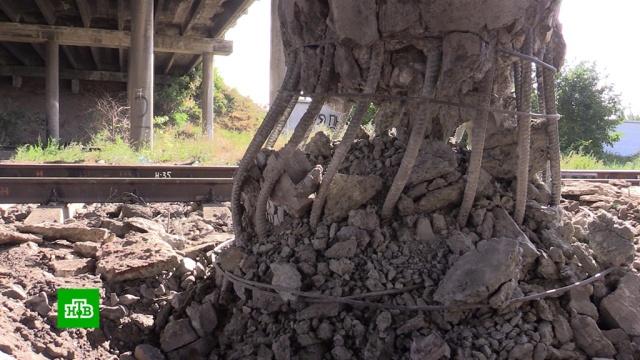 Теракт в Луганске: неизвестные пытались взорвать автомобильный мост.ЛНР, Луганск, Украина, взрывы, терроризм.НТВ.Ru: новости, видео, программы телеканала НТВ