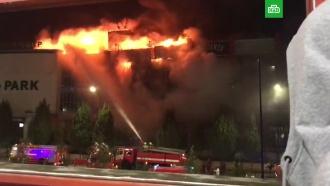 ВГрозном вспыхнул торговый центр