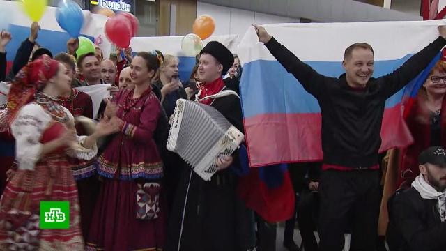 ВМоскве встретили триумфаторов ЧМ по боксу.бокс, спорт.НТВ.Ru: новости, видео, программы телеканала НТВ