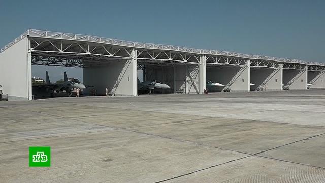 Зарубежным журналистам показали российские базы в Сирии.Сирия, авиация.НТВ.Ru: новости, видео, программы телеканала НТВ