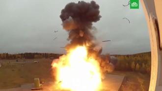СПлесецка проведен пуск баллистической ракеты <nobr>«Тополь-М»</nobr>