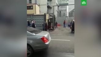 Опубликовано видео сместа нападения на полковника СК вМоскве