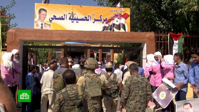 Впровинции Дейр-эз-Зор каждые 10дней восстанавливают по одной школе.Сирия, строительство, школы.НТВ.Ru: новости, видео, программы телеканала НТВ