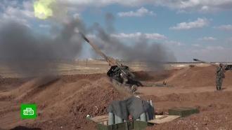 Сирийская армия устроила учебные стрельбы иуничтожила туннель боевиков