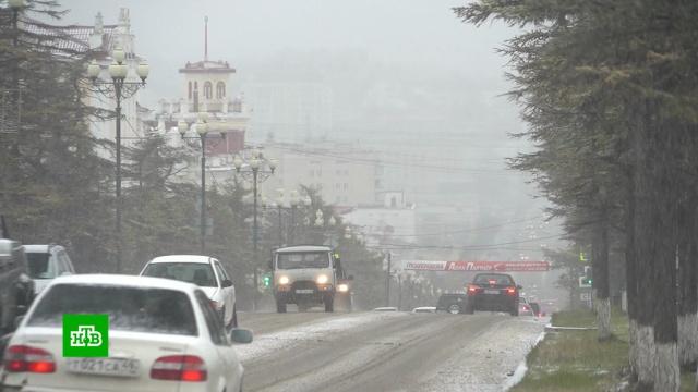 Метель, гололед инулевая видимость: Колыма оказалась во власти циклона.Магадан, авиация, погода, самолеты, снег.НТВ.Ru: новости, видео, программы телеканала НТВ