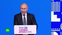 Путин: Россия заинтересована вчистоте спорта