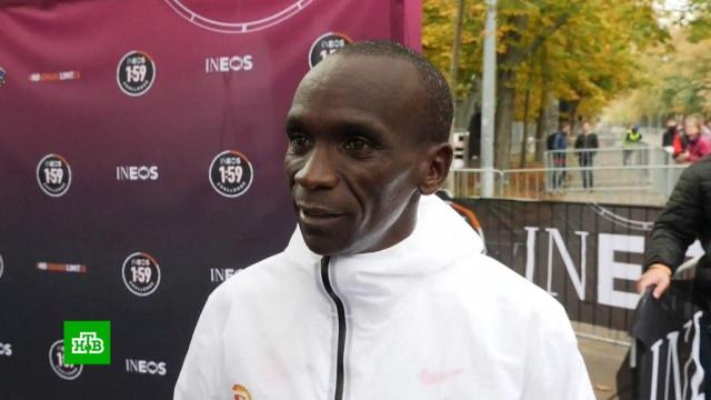 Впервые вистории: Кипчоге пробежал марафон менее чем за два часа.легкая атлетика, рекорды, спорт.НТВ.Ru: новости, видео, программы телеканала НТВ