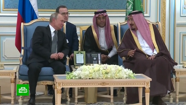 Путин прибыл во дворец короля Саудовской Аравии.Путин, Саудовская Аравия, визиты, переговоры.НТВ.Ru: новости, видео, программы телеканала НТВ