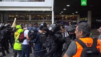 Протесты ваэропорту Барселоны: есть пострадавшие