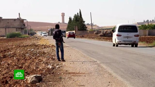 Российские военные полицейские провели первое патрулирование на сирийско-турецкой границе.США, Сирия, Трамп Дональд, Турция, Эрдоган, войны и вооруженные конфликты, санкции.НТВ.Ru: новости, видео, программы телеканала НТВ