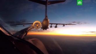 Дозаправка <nobr>Ту-160</nobr> по пути вЮАР