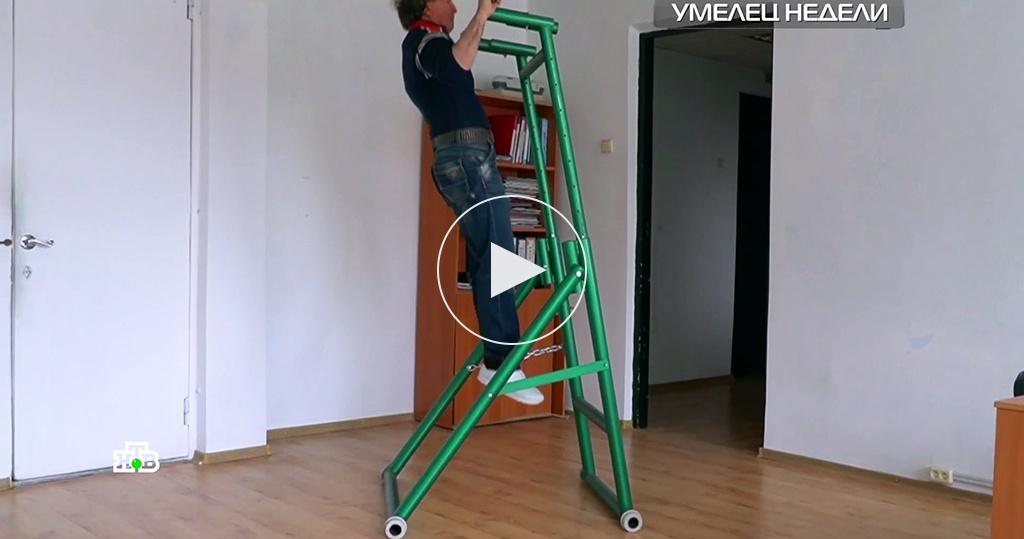 Складной тренажер стурником ибрусьями: изобретение умельца из Нальчика