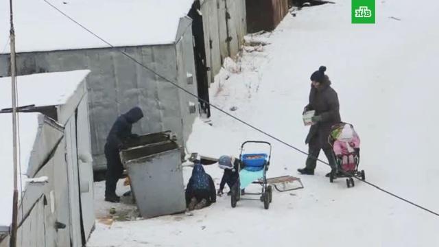 В Якутске женщина с четырьмя детьми собирала еду в мусорных баках.Якутия, дети и подростки, многодетные, мусор, пособия и субсидии.НТВ.Ru: новости, видео, программы телеканала НТВ