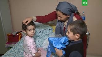 Покалеченная девочка из Ингушетии встретилась сбратом