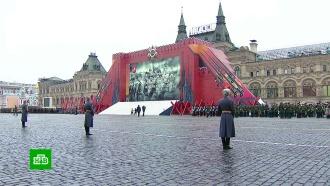 Репетиция реконструкции легендарного парада 1941года вМоскве