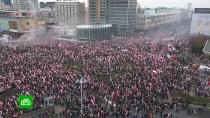 Тысячи националистов митингуют в Варшаве в День независимости
