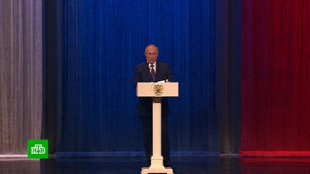 Путин: полиция должна жестко противодействовать попыткам расколоть общество.МВД, Путин, коррупция, наркотики и наркомания, торжества и праздники.НТВ.Ru: новости, видео, программы телеканала НТВ