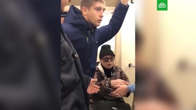 Пассажиры попытались защитить инвалида от полиции ввагоне метро.Москва, задержание, инвалиды, метро, полиция.НТВ.Ru: новости, видео, программы телеканала НТВ