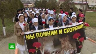 ВКаспийске почтили память погибших втеракте 1996года