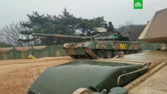 Американские военные испытали российский танк.США, Южная Корея, военные испытания, вооружение.НТВ.Ru: новости, видео, программы телеканала НТВ
