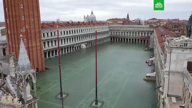 Затопленная Венеция с высоты птичьего полета: видео.Венеция, Италия, наводнения.НТВ.Ru: новости, видео, программы телеканала НТВ